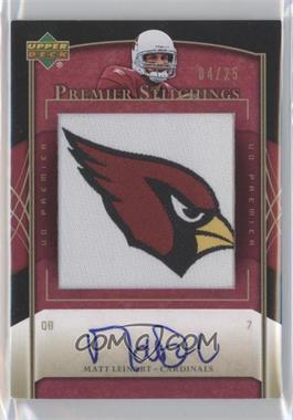 2007 UD Premier - Stitchings - Autographs [Autographed] #PS-96 - Matt Leinart /25