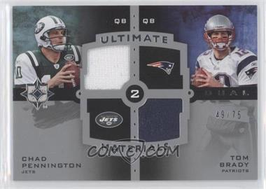 2007 Ultimate Collection - Ultimate Dual Materials #UDM-14 - Chad Pennington, Tom Brady /75