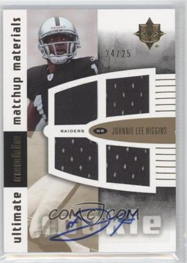 2007 Ultimate Collection - Ultimate Rookie Matchup Materials - Gold Parallel #URMM-HW - Paul Williams, Johnnie Lee Higgins /25