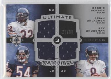 2007 Ultimate Collection - Ultimate Triple Materials #UTM-24 - Cedric Benson, Brian Urlacher, Rex Grossman /50