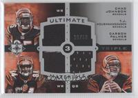 Chad Johnson, T.J. Houshmandzadeh, Carson Palmer #/50