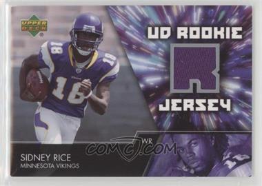 2007 Upper Deck - UD Rookie Jersey #UDRJ-SR - Sidney Rice