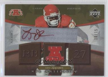 2007 Upper Deck Artifacts - AFC Apparel - Autograph [Autographed] #AFC-LJ - Larry Johnson /15