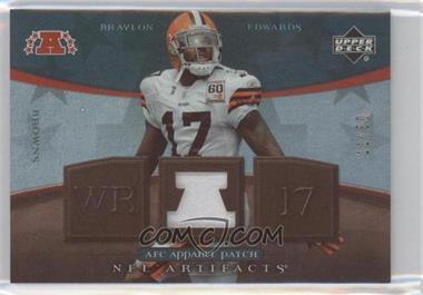 2007 Upper Deck Artifacts - AFC Apparel - Patch #AFC-BE - Braylon Edwards /50