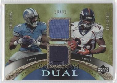 2007 Upper Deck Artifacts - Dual Artifacts #DA-KT - Kevin Jones, Tatum Bell /99