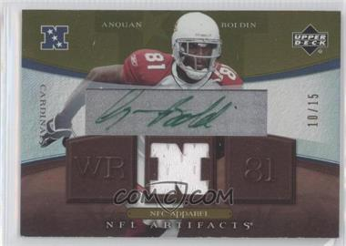 2007 Upper Deck Artifacts - NFC Apparel - Autographs [Autographed] #NFC-N/A - Anquan Boldin /15