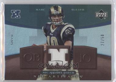 2007 Upper Deck Artifacts - NFC Apparel - Patch #NFC-MB - Marc Bulger /50