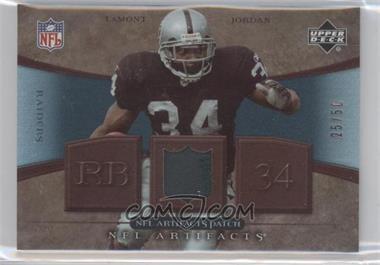 2007 Upper Deck Artifacts - NFL Artifacts - Patch #NFL-JO - LaMont Jordan /50