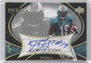 2007 Upper Deck Exquisite Collection - [???] #EDS-TG - Ted Ginn /1