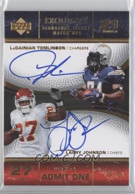 2007 Upper Deck Exquisite Collection - [???] #TIX-TJ - LaDainian Tomlinson, Larry Johnson /30