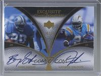 Barry Sanders, LaDainian Tomlinson /25 [EX to NM]