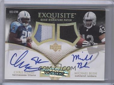 2007 Upper Deck Exquisite Collection - Quad Signature Patches #QSS-GTHB - Frank Gore, Chester Taylor, Chris Henry, Michael Bush /5
