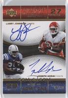 Joseph Addai, Larry Johnson #/30