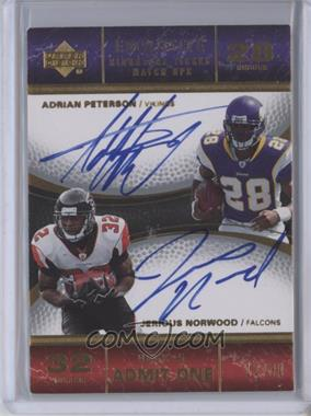 2007 Upper Deck Exquisite Collection - Signature Ticket Match Ups #TIX-PN - Adrian Peterson, Jerious Norwood /30