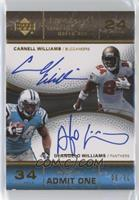 Carnell Williams, DeAngelo Williams [Noted] #/30