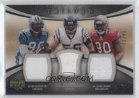 Shawne Merriman, Julius Peppers, Gaines Adams #/33