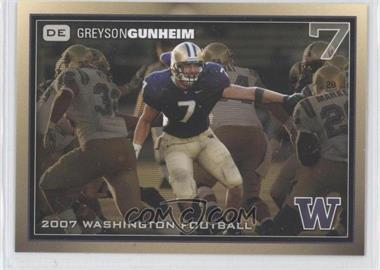 2007 Washington Huskies Team Issue - [Base] #GRGU - Greyson Gunheim