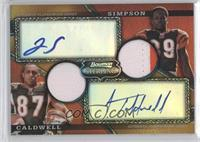 Jerome Simpson, Andre Caldwell #/75