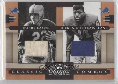 "2008 Donruss Classics - Classic Combos - Jerseys [Memorabilia] #CC-5 - Bobby Layne, Dick ""Night Train"" Lane /250"