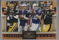 Ben Roethlisberger, Tom Brady, Brett Favre, Peyton Manning [Noted] #/100