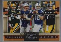 Ben Roethlisberger, Brett Favre, Tom Brady, Peyton Manning [Noted] #/250