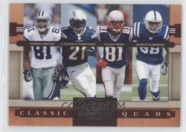 2008 Donruss Classics - Classic Quads #CQ-4 - LaDainian Tomlinson, Marvin Harrison, Randy Moss, Terrell Owens /1000