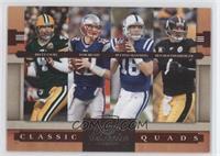 Brett Favre, Ben Roethlisberger, Peyton Manning, Tom Brady #/1,000