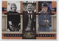 Hank Stram, Knute Rockne, Tom Landry /100