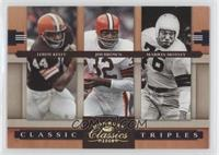 Leroy Kelly, Jim Brown, Marion Motley /100