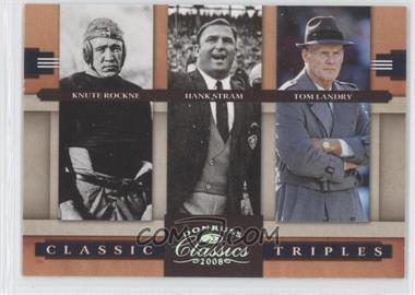 2008 Donruss Classics - Classic Triples - Silver #CT-1 - Knute Rockne, Hank Stram, Tom Landry /250