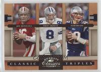 Troy Aikman, Joe Montana, Tom Brady /250