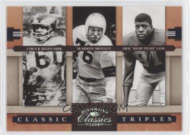 "2008 Donruss Classics - Classic Triples - Silver #CT-7 - Chuck Bednarik, Marion Motley, Dick ""Night Train"" Lane /250"