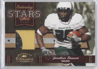 2008 Donruss Classics - Saturday Stars - Jerseys Prime [Memorabilia] #SS-28 - Jonathan Stewart /25