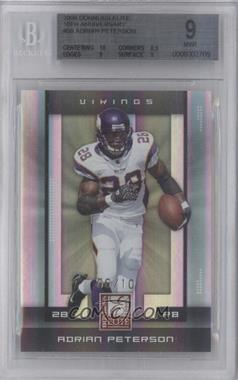 2008 Donruss Elite - [Base] - 10th Anniversary #56 - Adrian Peterson /10 [BGS 9]