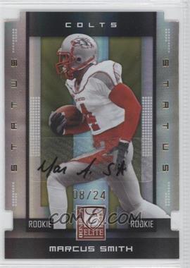 2008 Donruss Elite - [Base] - Rookies Status Gold Die-Cut Autographs [Autographed] #177 - Marcus Smith /24