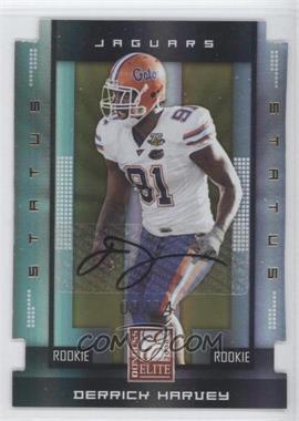 2008 Donruss Elite - [Base] - Rookies Status Gold Die-Cut Autographs [Autographed] #182 - Derrick Harvey /24