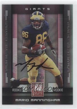 2008 Donruss Elite - [Base] - Rookies Turn of the Century Autographs [Autographed] #153 - Mario Manningham /50