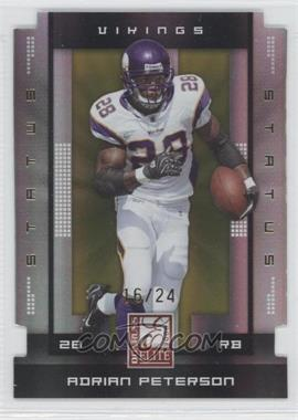2008 Donruss Elite - [Base] - Status Gold Die-Cut #56 - Adrian Peterson /24