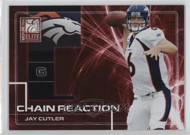 2008 Donruss Elite - Chain Reaction - Red #CR-14 - Jay Cutler /200