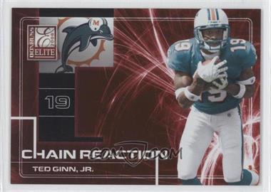 2008 Donruss Elite - Chain Reaction - Red #CR-22 - Ted Ginn Jr. /200