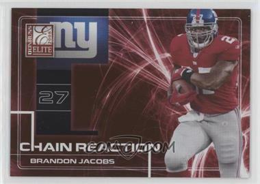 2008 Donruss Elite - Chain Reaction - Red #CR-6 - Brandon Jacobs /200