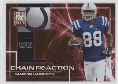 2008 Donruss Elite - Chain Reaction - Red #CR-8 - Marvin Harrison /200