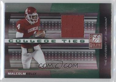 2008 Donruss Elite - College Ties - Jerseys [Memorabilia] #CT-20 - Malcolm Kelly /150