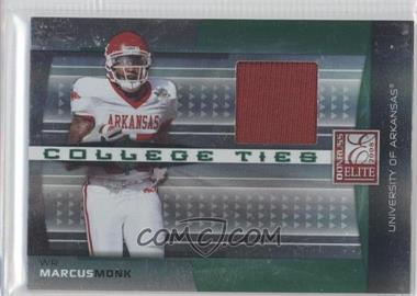 2008 Donruss Elite - College Ties - Jerseys [Memorabilia] #CT-5 - Marcus Monk /150