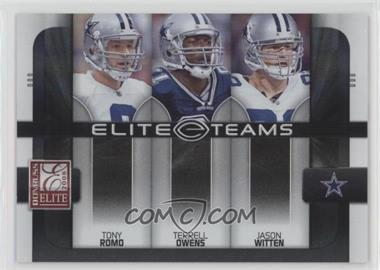 2008 Donruss Elite - Elite Teams - Black #ET-1 - Jason Witten, Terrell Owens, Tony Romo /800