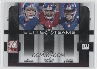 2008 Donruss Elite - Elite Teams - Black #ET-10 - Eli Manning, Plaxico Burress, Brandon Jacobs /800