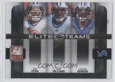 2008 Donruss Elite - Elite Teams - Black #ET-12 - Calvin Johnson, Jon Kitna, Roy Williams /800