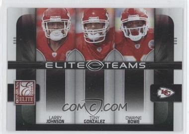 2008 Donruss Elite - Elite Teams - Black #ET-14 - Dwayne Bowe, Tony Gonzalez, Larry Johnson /800