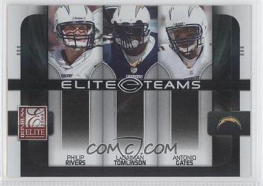 2008 Donruss Elite - Elite Teams - Black #ET-18 - Antonio Gates, LaDainian Tomlinson, Philip Rivers /800