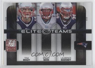 2008 Donruss Elite - Elite Teams - Black #ET-2 - Laurence Maroney, Tom Brady, Randy Moss /800